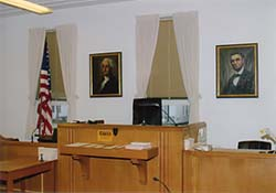 A Courtroom inside the Bureau County Courthouse